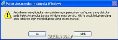 Cara merubah windows xp menjadi bahasa Indonesia